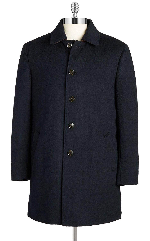 RALPH LAUREN Men's 3/4 Classic-Fit Down-Filled Wool Overcoat (40 Regular, Navy)