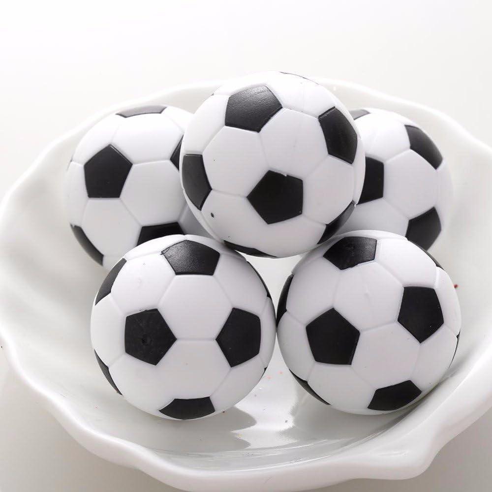Xiton Reemplazo de plástico Mini Tabla del fútbol Futbolín 6pcs Blanco y Negro de Fútbol: Amazon.es: Juguetes y juegos