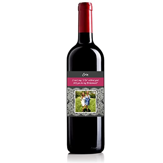Personalized Labeled Wine Bottle For Bridesmaid Gift Wedding Gift