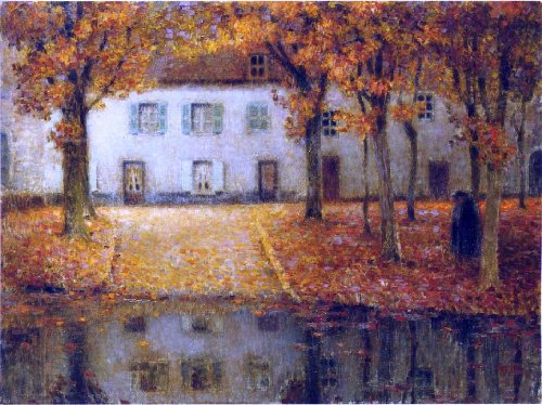 Chartres House (Henri Le Sidaner Small House by the Eau River at Chartres - 21.1