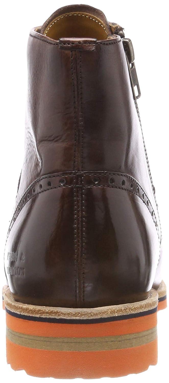 MELVIN & HAMILTON MH HAND MADE SHOES OF CLASS Herren Braun Tom 23 Chelsea Boots Braun Herren (Crust / Mogano / Strap Brown / Orange / Acc. Nickel / Aspen Orange + Eva Navy) 609c39