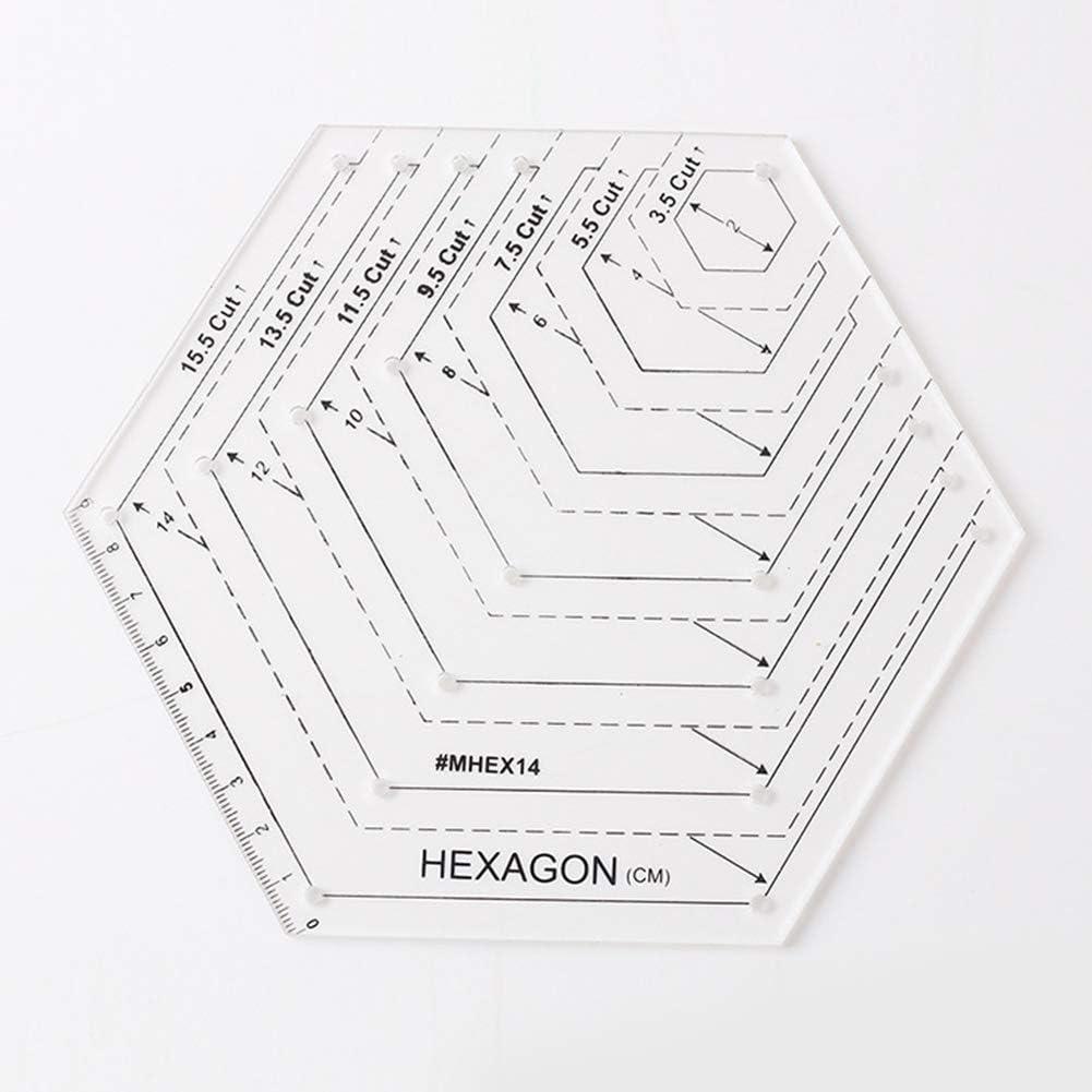 beiyoule 4Pcs Quilting Ruler Transparent Patchwork Sewing Cutting Craft Ruler Tool DIY Diamond Shape