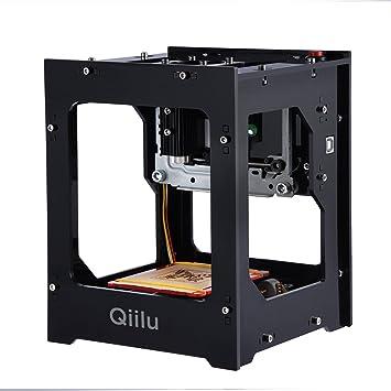 Qiilu Máquina de Grabado Láser - 1500mW Mini DIY Grabador Láser ...