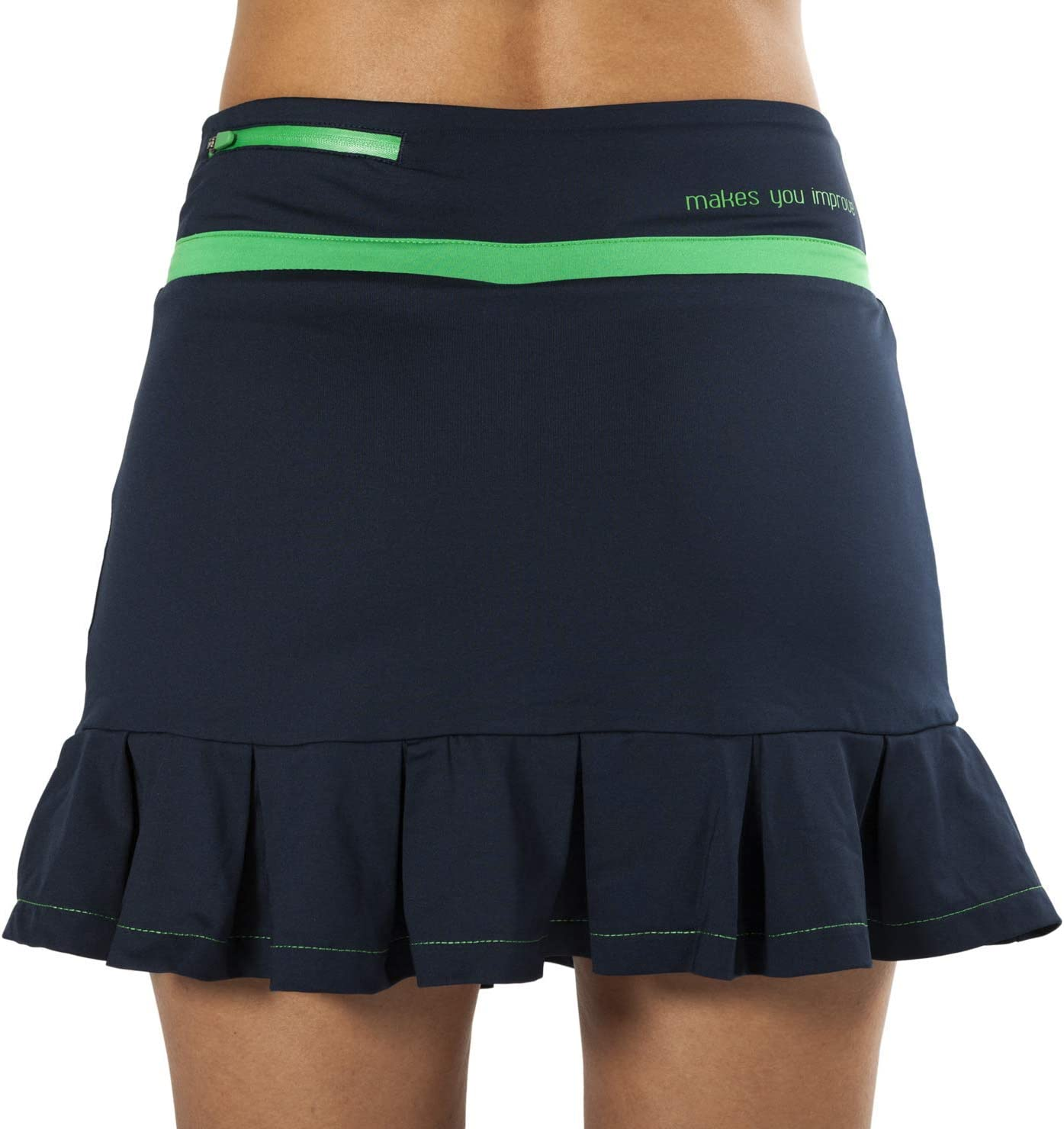 NOX Falda Pro Azul con Logo Verde: Amazon.es: Deportes y aire libre