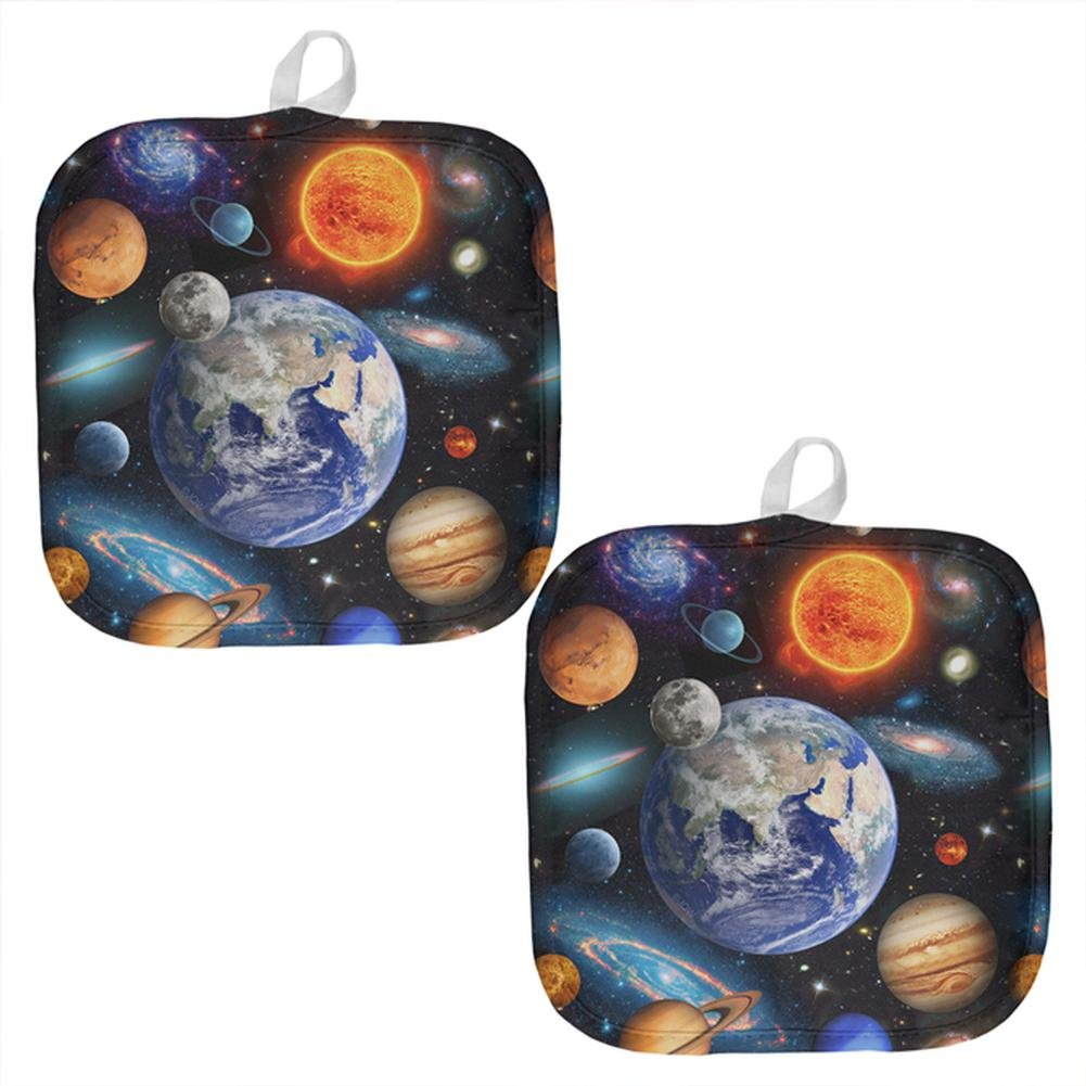 Galaxy Solar System All Over Pot Holder (Set of 2) Multi Standard One Size