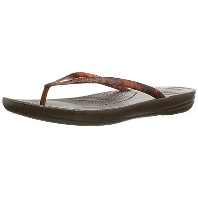 FitFlop Womens Iqushion Tortoiseshell Flip Flops: Shoes