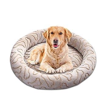KOBWA - Cama Redonda Lavable para Perro, Cama para Perros pequeños, Gruesa, Antideslizante