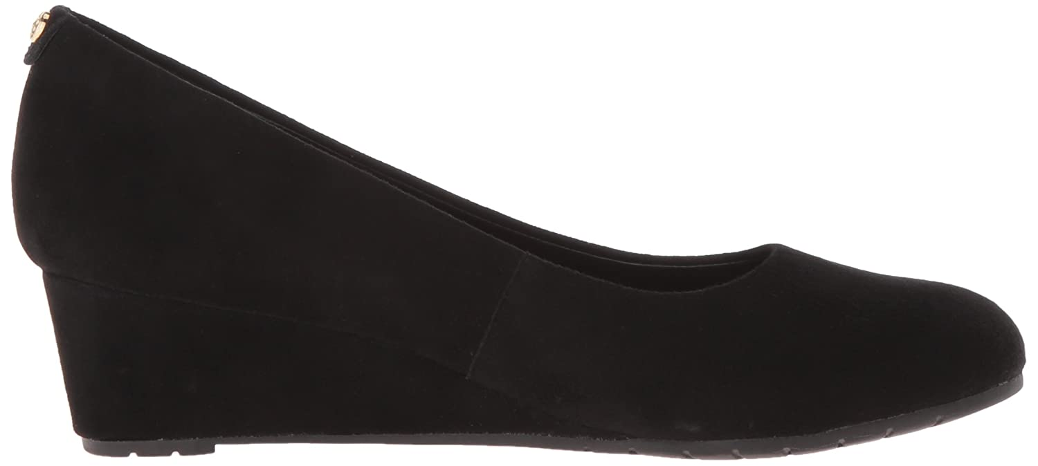 CLARKS B0195EHWA2 Women's Vendra Bloom Wedge Pump B0195EHWA2 CLARKS 8.5 W US|Black Suede 383cb8