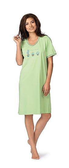 Schiesser Damen  Nachthemd Sleepshirt blau 95 cm exklusiv