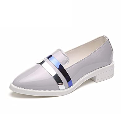 Amazon.com | Feilongzaitianba Women Casual Shoes Square Toe Platform Shoes Women Women Flats Lady Shoes | Loafers & Slip-Ons