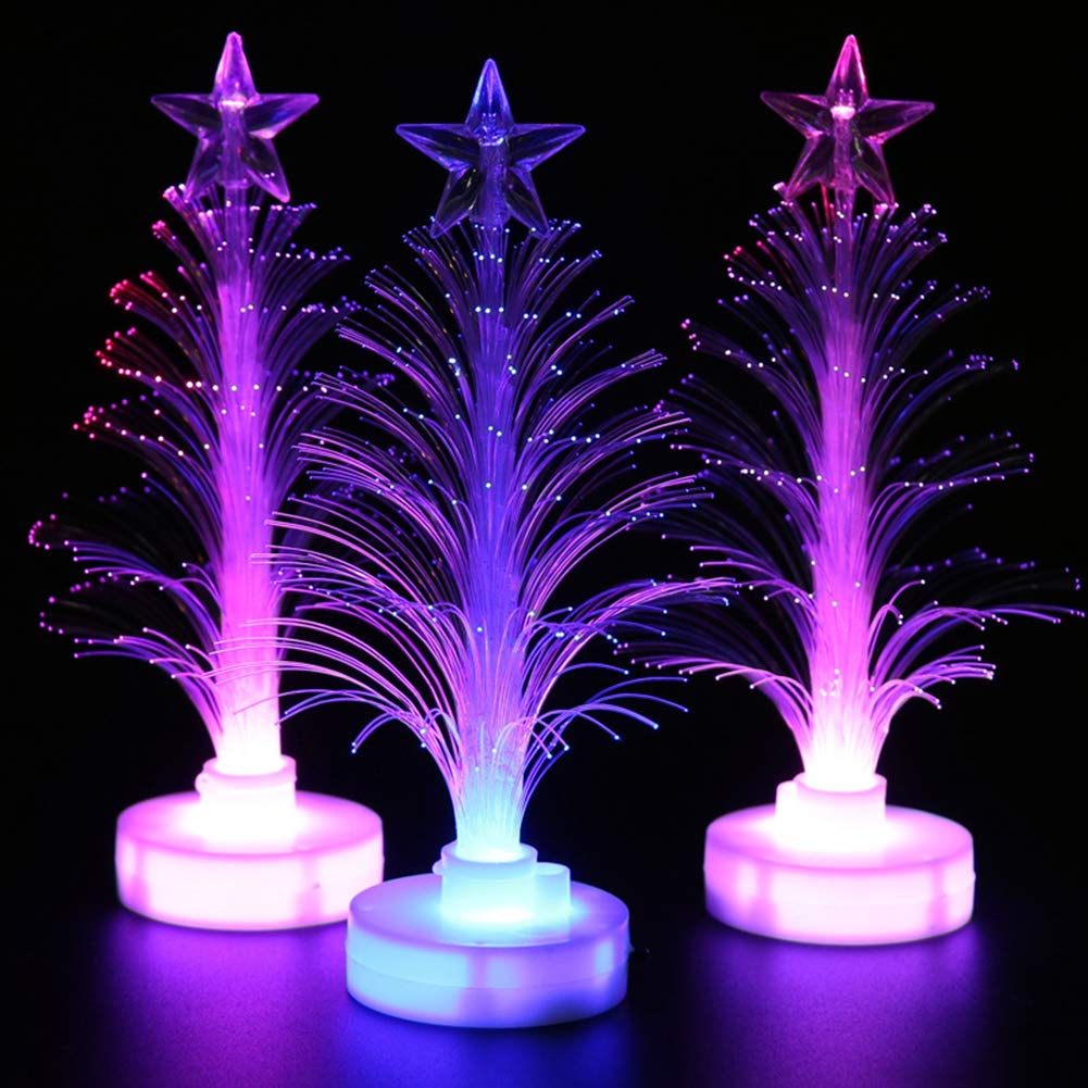 Bluelans Christmas Decorations, Christmas LED Light Multicolor Xmas Tree Fiber Optic Lamp Home Party Decor Gift Xmas Gifts Xmas Stocking Fillers