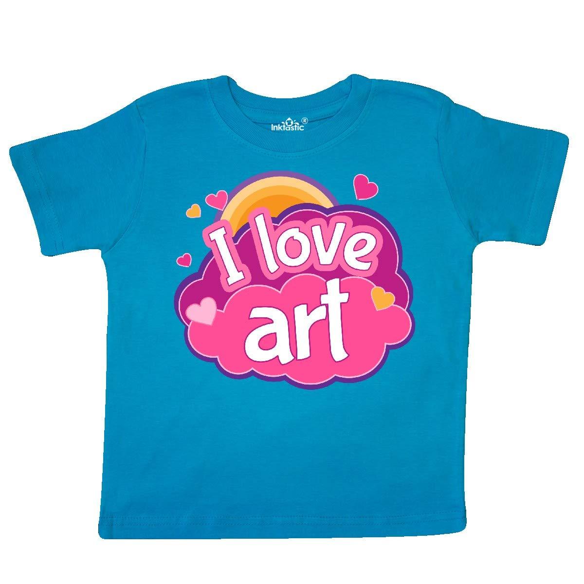 inktastic Artist I Love Art Toddler T-Shirt
