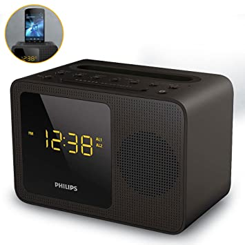 Philips Clock Radio AJT5300 Bluetooth Universal Charging Dual Alarm Fm, Digital Tuning and Speaker Dock