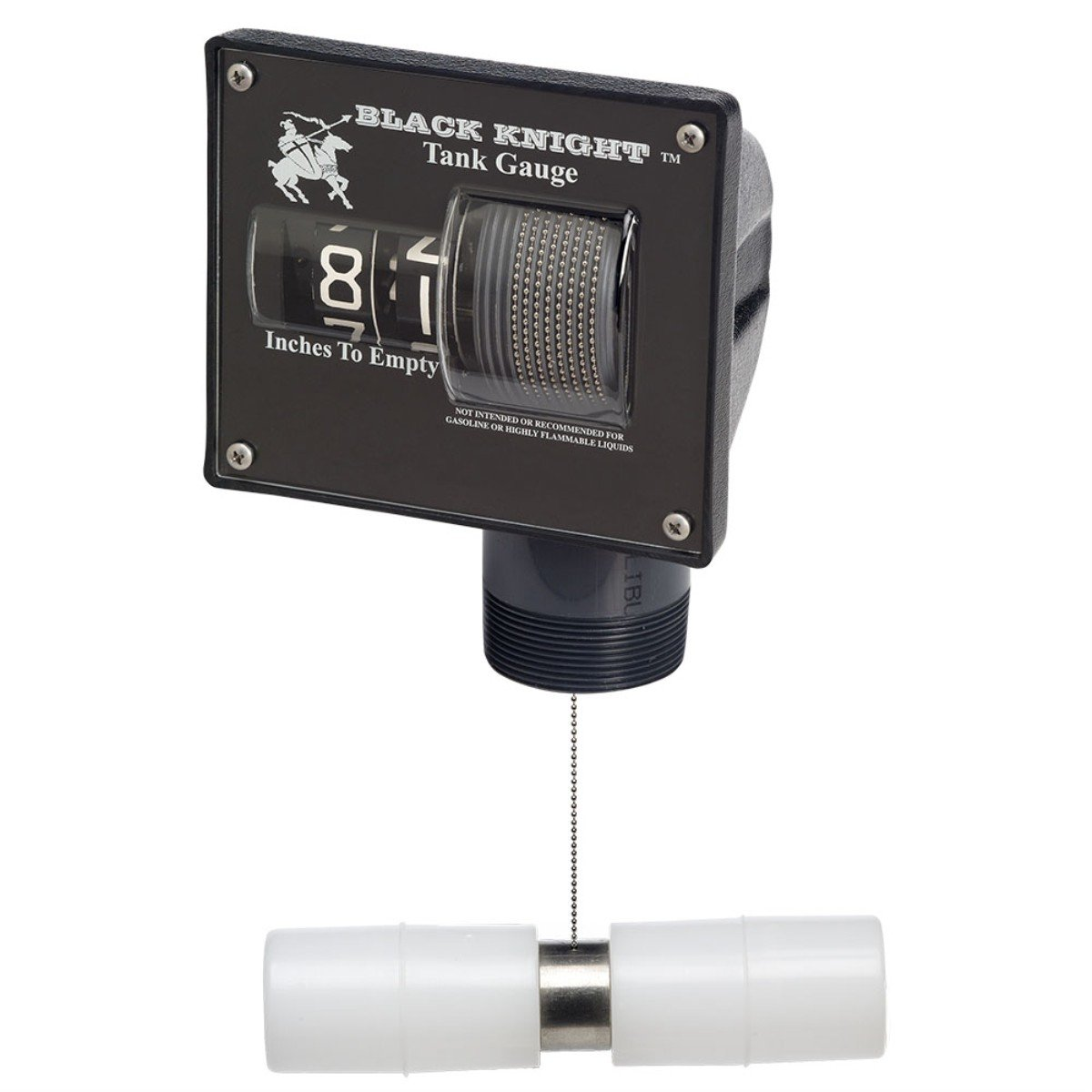 """BJE 007600 Black Knight 99"""" Liquid Level Gauge with Horizontal Float and 2"""" NPTF Tank Fitting"""