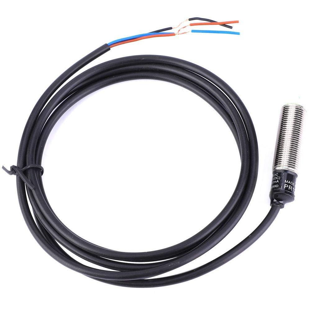 Proximity Sensors PR12-2DN Detection Switch Detecting Distance Approach Sensor Inductive 3-Wire NO NPN Sensor Internal Amplifier Switch 10~30VDC 2mm Sensing Dist