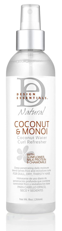 Design Essentials Coconut & Monoi Coconut Water Curl Refresher For Instant Curl Revitalization - 8 oz