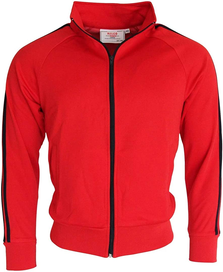 60s Men's Mod Fashion – American Style Relco Mens Navy Retro Track Tops £29.99 AT vintagedancer.com