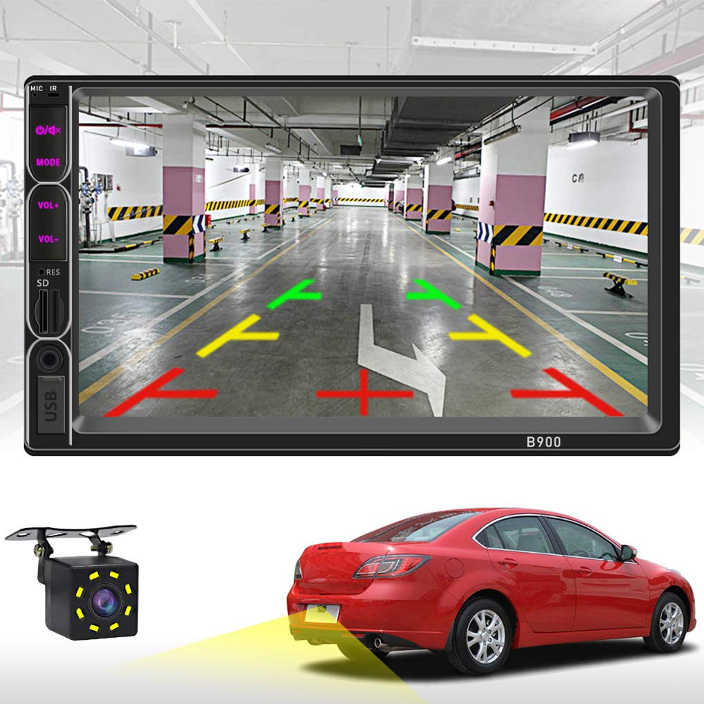 ##1 7 Inch Touch Screen 2 Din Car Audio Stereo Bluetooth MP5 Player Support Rear View Camera AUX FM USB