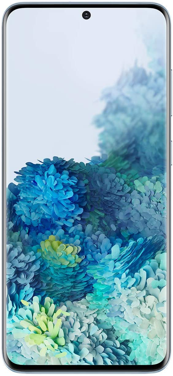 Samsung Galaxy S20 5G Factory Unlocked New Android Cell Phone US Version | 128GB of Storage | Fingerprint ID and Facial Recognition | Long-Lasting Battery | Cloud Blue