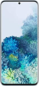 Samsung Galaxy S20 5G Factory Unlocked New Android Cell Phone US Version   128GB of Storage   Fingerprint ID and Facial Recognition   Long-Lasting Battery   Cloud Blue