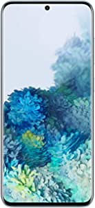 Samsung Galaxy S20 5G Factory Unlocked New Android Cell Phone US Version, 128GB of Storage, Fingerprint ID and Facial Recognition, Long-Lasting Battery, Cloud Blue