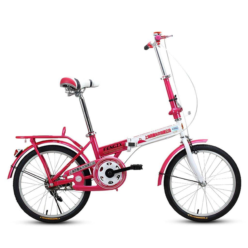 XQ Bicicleta Plegable Blanca Y Roja De F311 Adulto 20 Pulgadas Bicicleta Ultraligera De Los Estudiantes Portátiles: Amazon.es: Deportes y aire libre