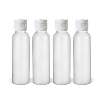 fd6eaf639d60 Moyo Natural Labs 2 Oz HDPE Flip Cap Empty Squeezable Travel Bottles BPA  Free TSA Compliant...