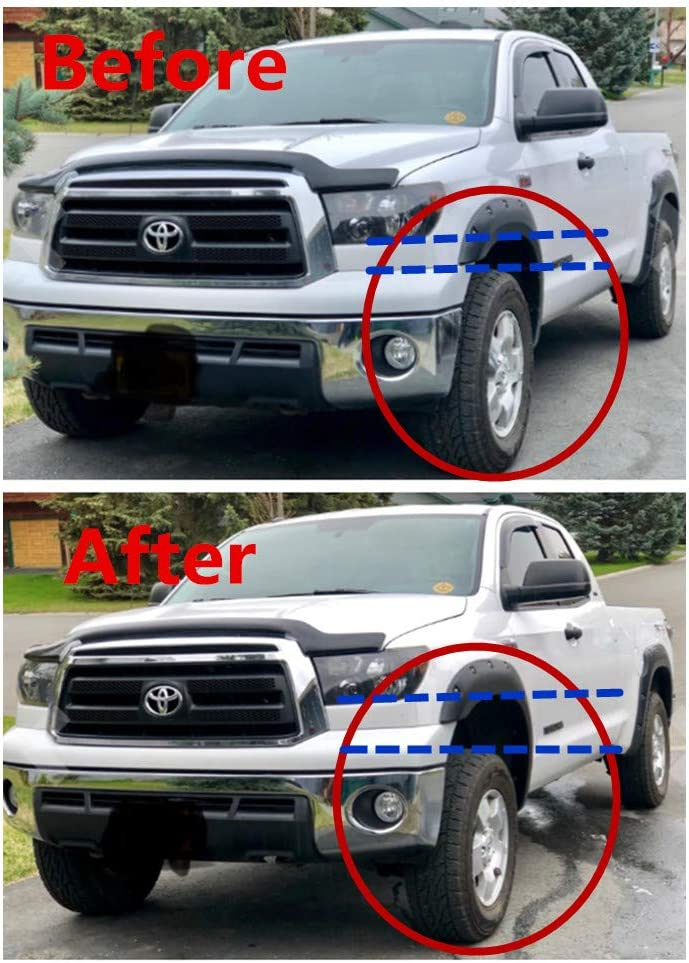 ZY WHEEL 2 Front Leveling Lift Kit Strut Spacers for 2007-2019 Toyota Tundra Sequoia 2WD 4WD