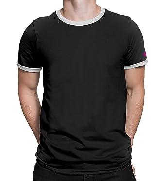 ac2934439ddb3 PrintOctopus Plain Ringer T-Shirt Men   Women (5+ Colours Available ...