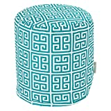 Majestic Home Goods Pacific Towers Indoor/Outdoor Bean Bag Ottoman Pouf 16'' L x 16'' W x 17'' H