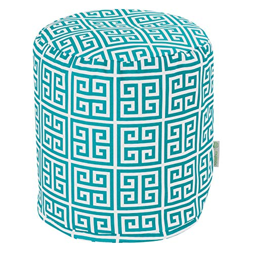 Majestic Home Goods Pacific Towers Indoor Outdoor Bean Bag Ottoman Pouf 16 L x 16 W x 17 H