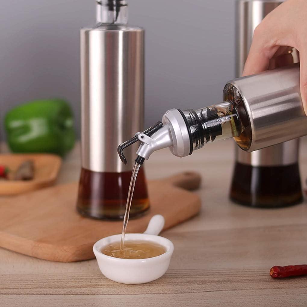 Lorsoul /Öl-Flasche Essig Lagerung Spender Edelstahl Glas Sauce Multifunktionsk/üchen Halter W/ürzen Pourers