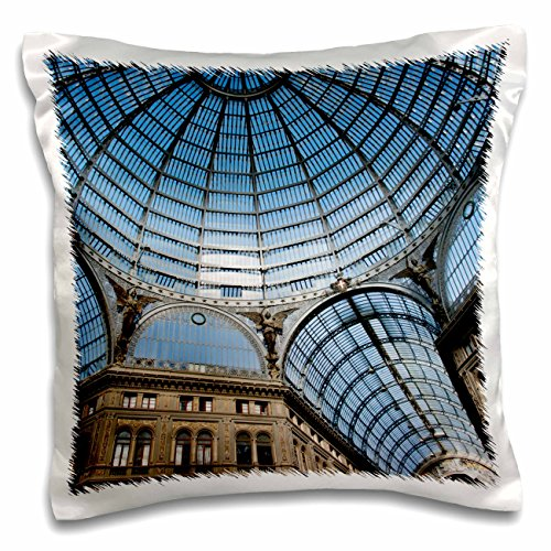 Danita Delimont - Buildings - Italy, Naples. Galleria Umberto 1, glass-vaulted ceiling. - 16x16 inch Pillow Case - Shopping Napoli Mall