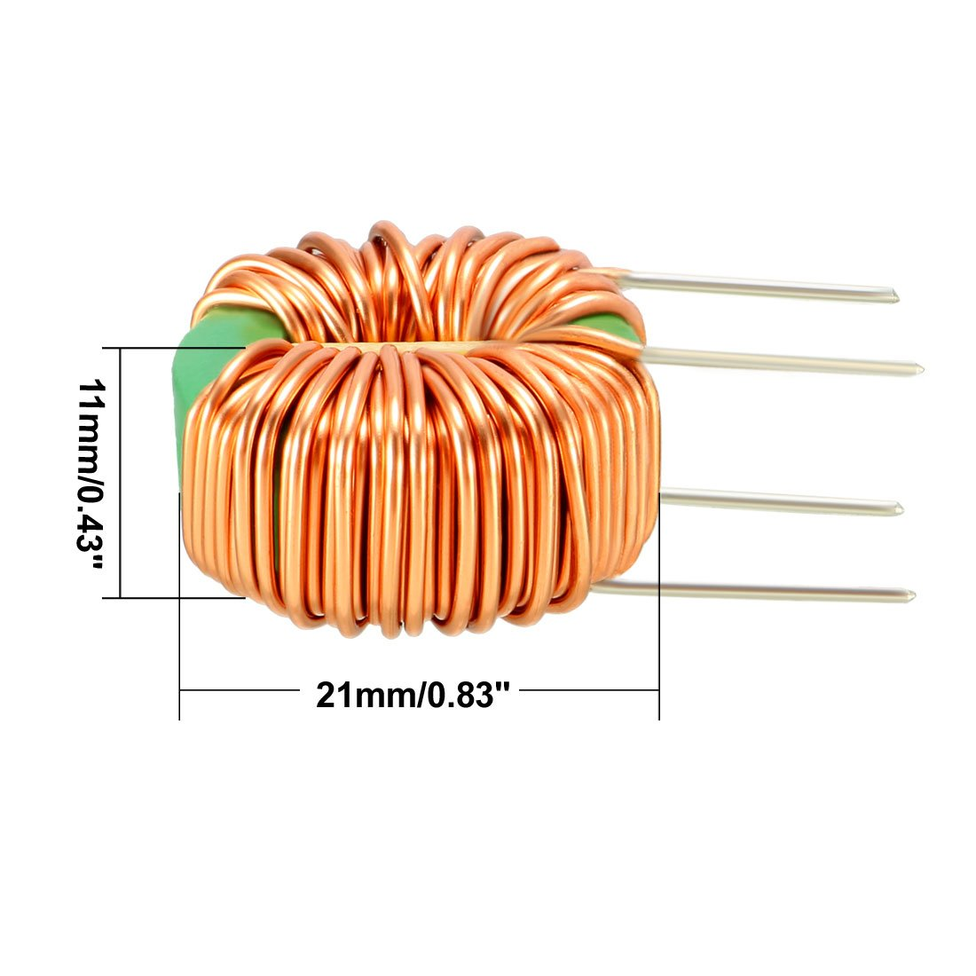 Uxcell 1pcs Horizontal Toroid Magnetic Inductor Monolayer Wire Wind Coils Of Copper Are Commonly Used In Electrical Inductors Wound 15mh 5a Inductance Coil Industrial Scientific