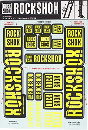 - RockShox Decal Kit 35mm Dual Crown Yellow