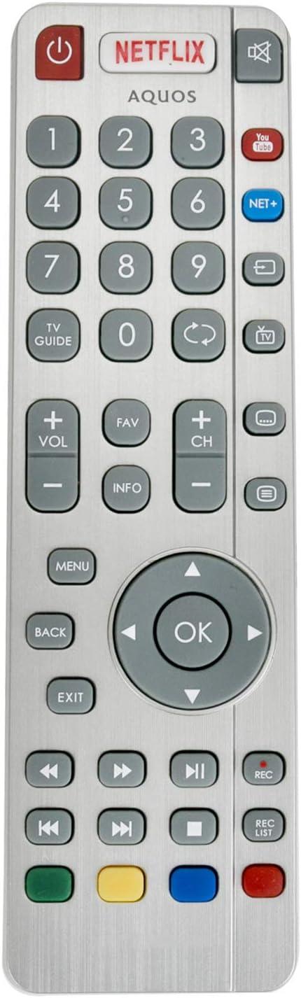 ALLIMITY SHWRMC0116 Control Remoto reemplazado por Sharp Aquos UHD ...