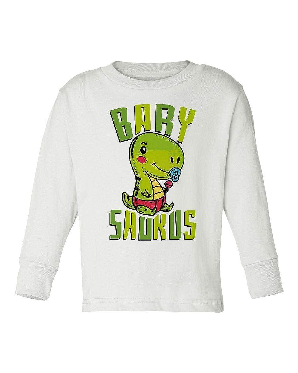 Societee Barysaurus with Dummy Cute Girls Boys Toddler Long Sleeve T-Shirt