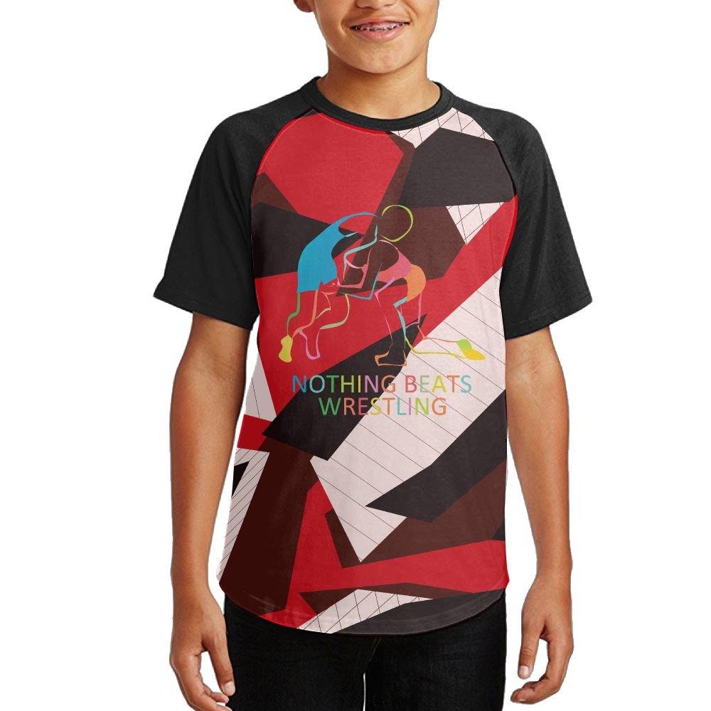 SF SHORT Nothing Beats Wrestling Youth Casual Raglan Short Sleeves T-Shirt by SF SHORT