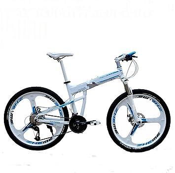 MASLEID Bicicleta de montaña de aluminio plegable de 27 motos deportivas de velocidad de 26 pulgadas