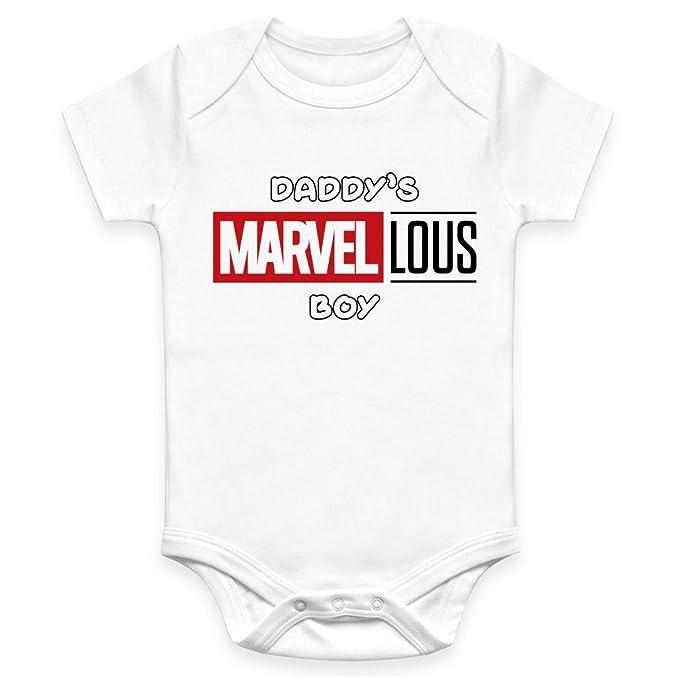 Coco Rascal/® Baby Girl Daddys Marvellous Girl Superhero Inspired Cute Cotton White Bodysuit Grow Vest 0-18 Months