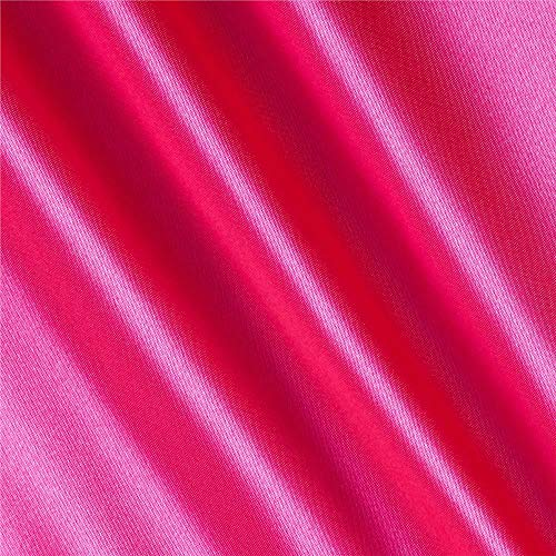 Hot Pink Fabric - Shannon Fabrics Silky Satin Charmeuse Solid