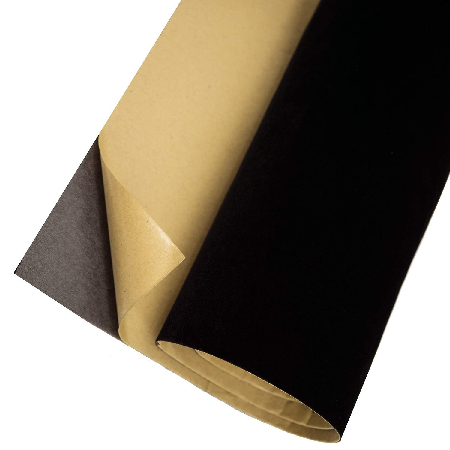 Self Adhesive Velvet Flock Contact Paper Roll Shelf Liner for Jewelry Drawer Craft Fabric 17.7'' x 78.7'', Soft Velvet Liner for Drawer DIY (Black) by XWZN (Image #1)