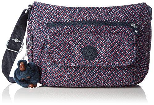 Kipling Syro, Bolso Bandolera para Mujer, Multicolor (REF34K Mini Geo), 31x22x12.5 cm (B x H x T)