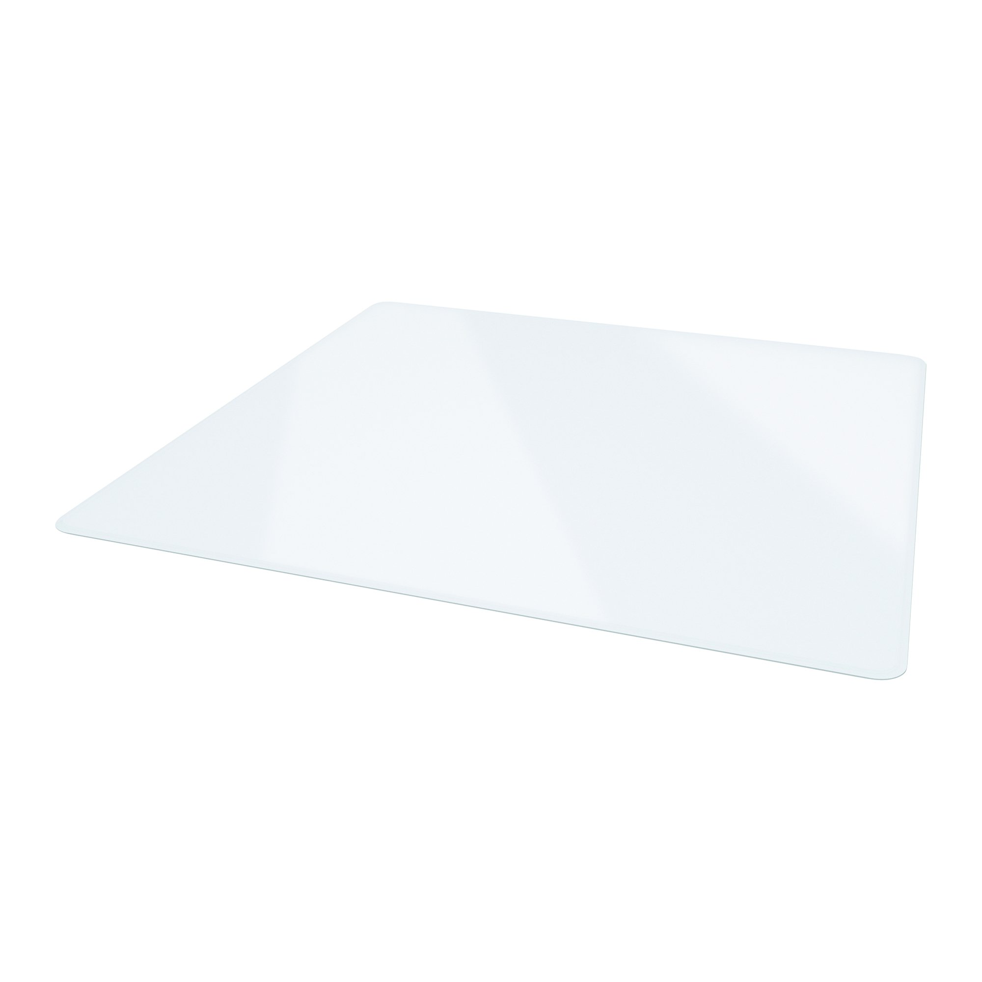 Deflecto Premium Clear Glass Chairmat, Multi-Surface Use, Rectangle, Beveled Edge, 48 x 60 Inches (CMG70434860)