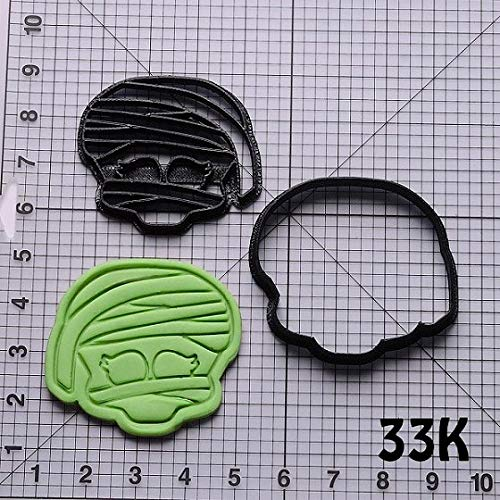 1 piece Monster High Series Shape Cookie Cutters Set Custom Made 3D Printed Cookie Biscuit Cutter for Fondant Cupcake Press for Cake (Printed Custom Cookies)