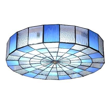 LED Estilo tiffany Lámpara de techo dormitorio, Montaje ...