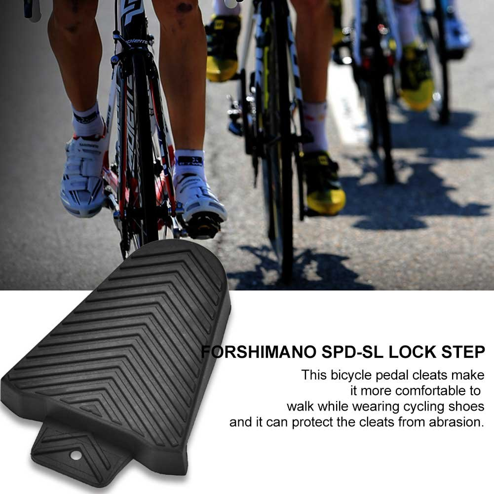 Vbestlife Bike Cleat Covers, 1Pair Road Bicycle Pedal Protective Cover Shoe Protectors for Shimano SPD-SL Cleats Black by Vbestlife (Image #4)