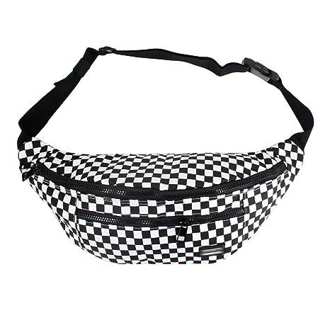 8002563c9d9 LABANCA Fashion Fanny Pack Checkerboard Printed Rave Bag Beach Bum Bag  Leisure Waist Bag Cell Phone Purse Bag (B-Checker)