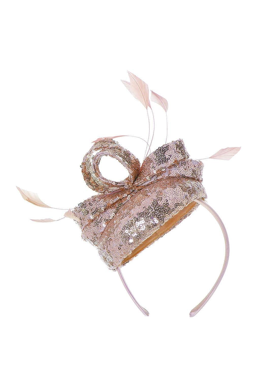 Roman Originals Women Sequin Pillbox Fascinator Ladies Smart Summer Holiday Evening Special Occasions Race Day Mother of The Bride Groom Wedding Guest Hat