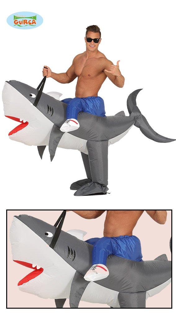 Disfraz de tiburón inflable de talla única